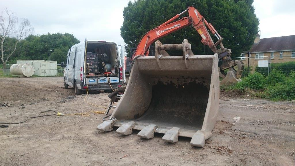 welding repair of digger bucket